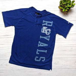 Nike KC Royals 2010 Henley T-shirt Size Lg 16/18